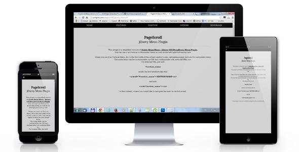 PageScroll Menu | Pantherius Plugins